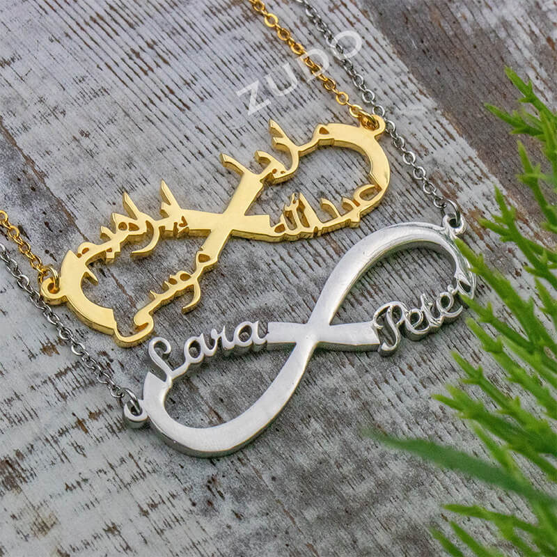 ZUDO-4-Name-Infinity-Necklace-Arabic-Gold-silver