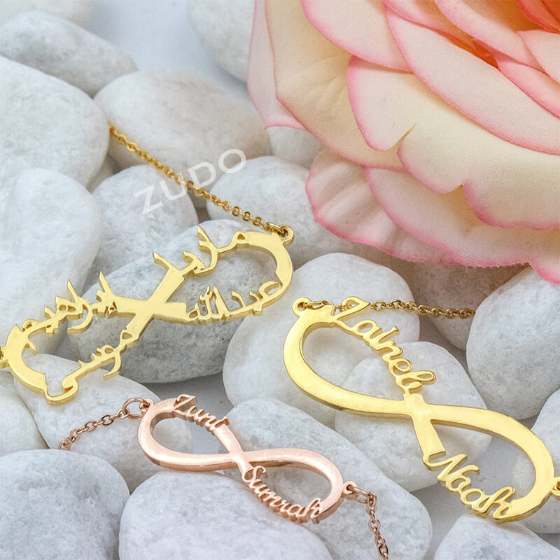 ZUDO-4-Name-Infinity-Necklace-Arabic-Gold-Rose-gold