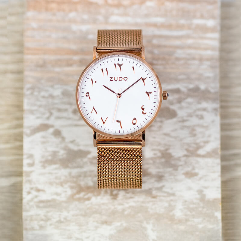Origin | Rose Gold Mesh Strap