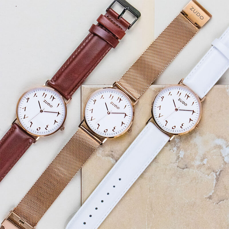 Origin | White Leather Strap