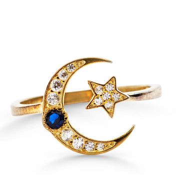 ZUDO-Star Moon Ring