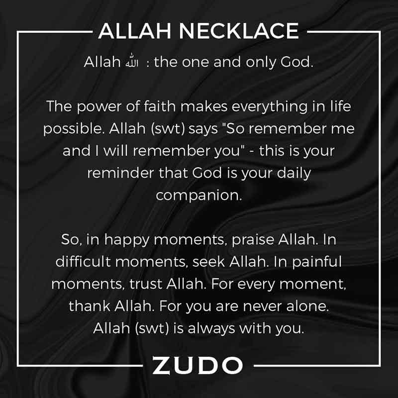 ZUDO Allah Medallion Necklaces