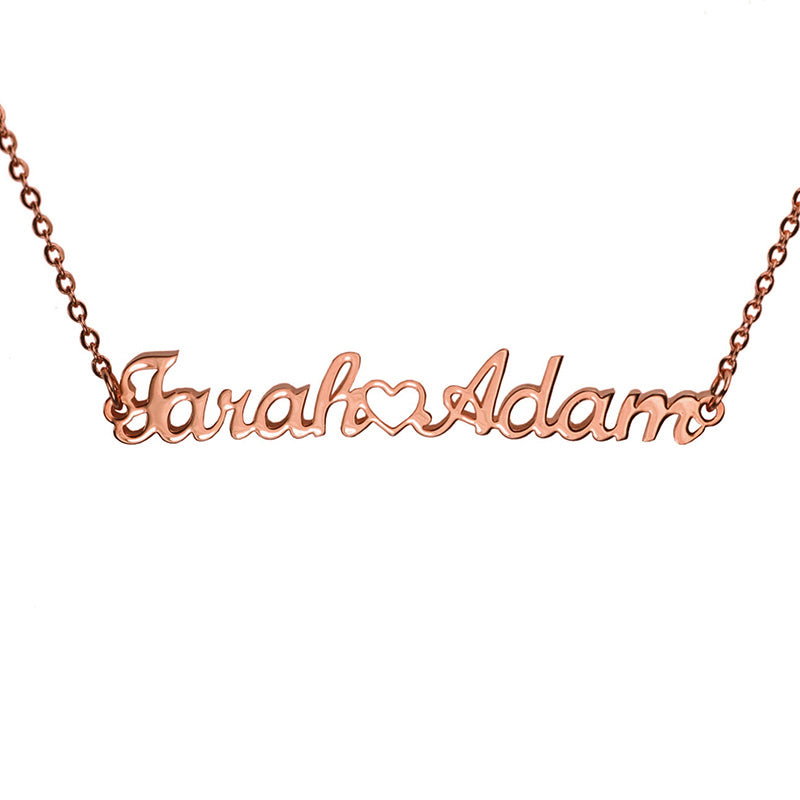 English 2-Name Couples Necklace