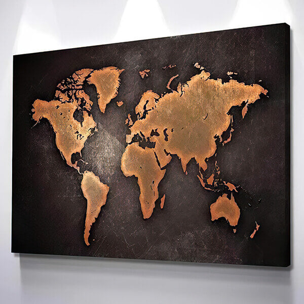 Rustic World Map | Canvas