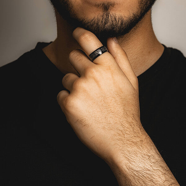 Shahada (Kalima) Ring - Black