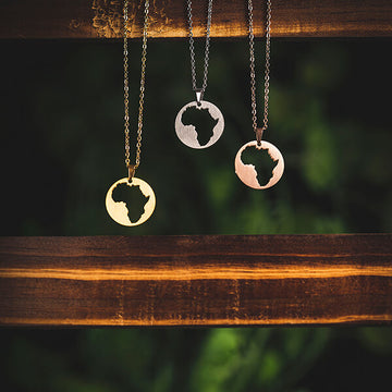 ZUDO Africa Map Necklace