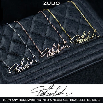 ZUDO custom handwriting jewelry