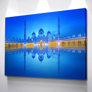 ZUDO CANVAS: GRAND MOSQUE BLUE REFLECTION