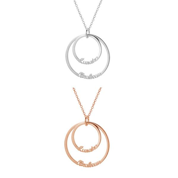 ZUDO-2-Name-double disc circle-Necklace