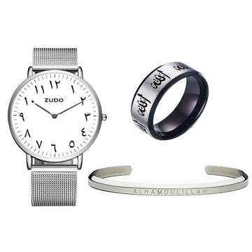 Silver - FALAK Watch + Cuff + Ring