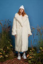 Super Luxe Faux Fur Coat - Ivory