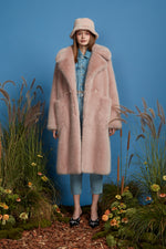 Super Luxe Faux Fur Coat - Lilac