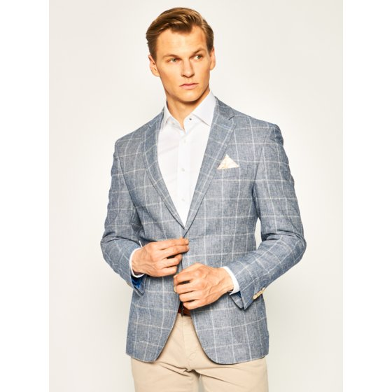 Bugatti, Cotton Jacket - Blue Check
