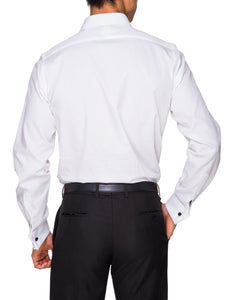 Abelard, Marcella Fly Front, Peak Collar, Slim Fit- White