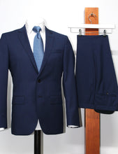 Hugo Boss, Slim Fit Suit Trousers - Blue (Trousers only)