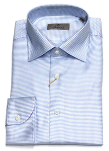 Canali, Cotton Shirt Slim - Sky Blue