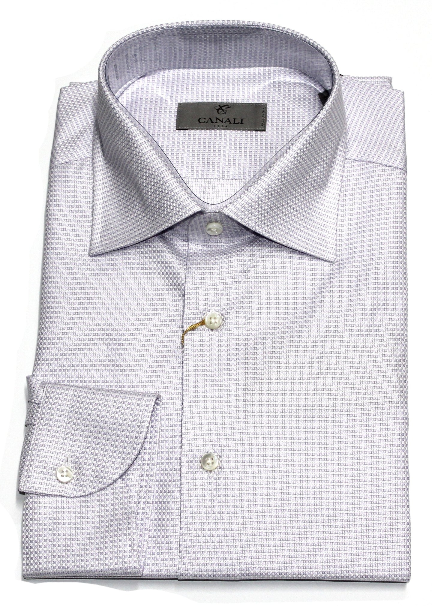 Canali, Cotton Shirt Slim - Lilac