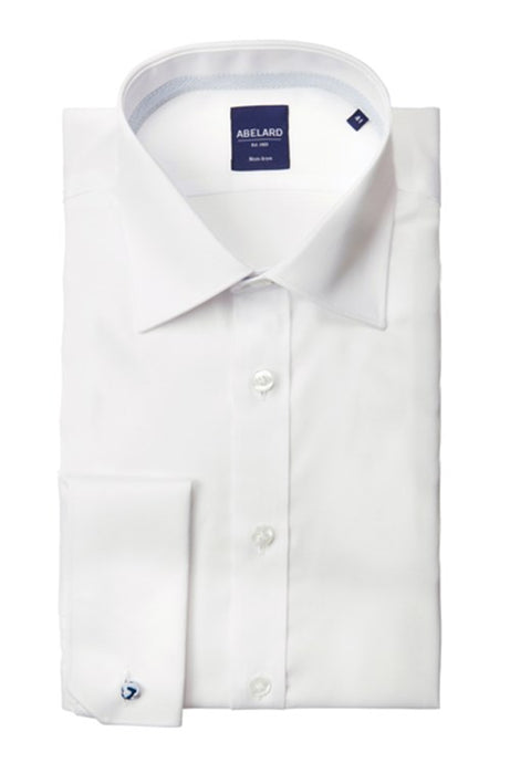 Abelard, Non-Iron, Slim Fit, Double Cuff- White