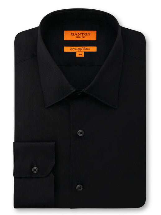 Ganton, Cotton Extra Slim - Black