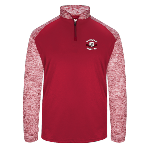 Wadsworth Boys LAX – 419700 Men's – Badger Polyester ¼ Zip