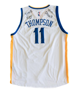 Game Worn Fake Klay Jersey