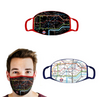 Tube Map (black) TFL Face Mask
