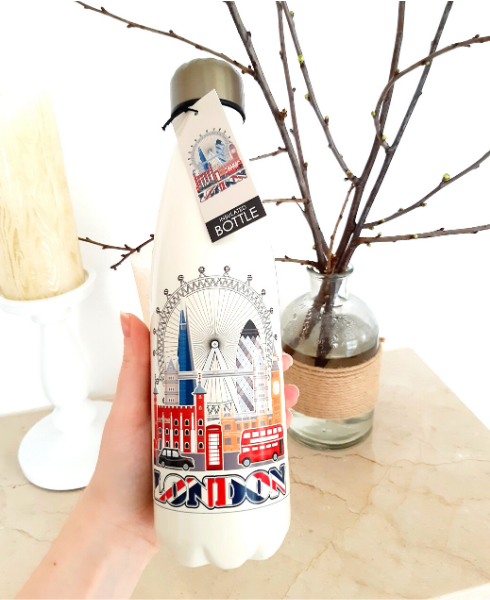London Metal Water Bottle- FREE shipping