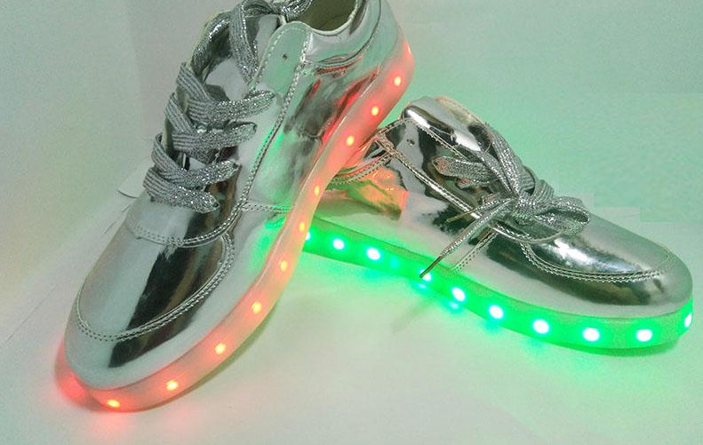 PartyGlow™ Silver Sneakers