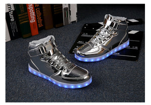 PartyGlow™ Silver High-tops