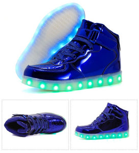 PartyGlow™ Blue High-tops
