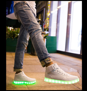 PartyGlow™ White High-tops