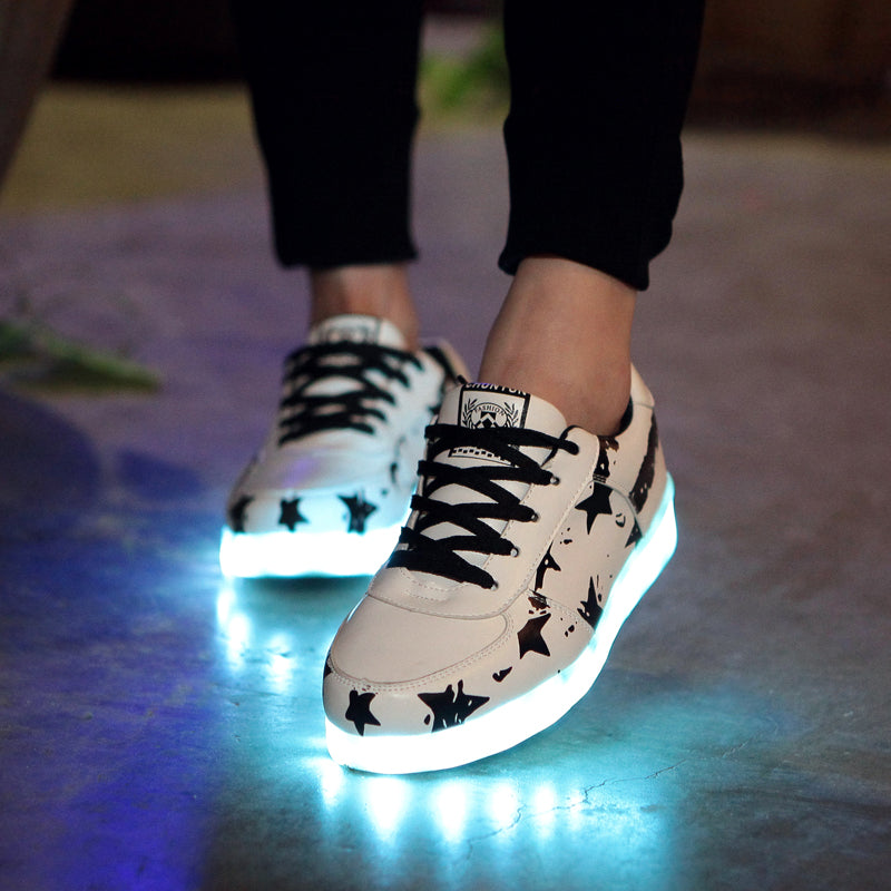 PartyGlow™ Black Star Sneakers