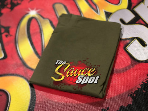 "T-Shirt ""The Sauce Spot"" Logo - ARMY GREEN"
