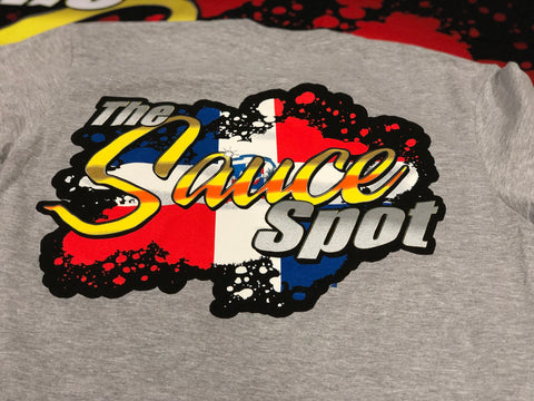 "T-Shirt ""Dominican Republic Edition"" Sauce Spot Logo - GREY"