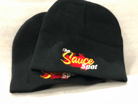 "Hat Beanie ""The Sauce Spot"" Logo BLACK"