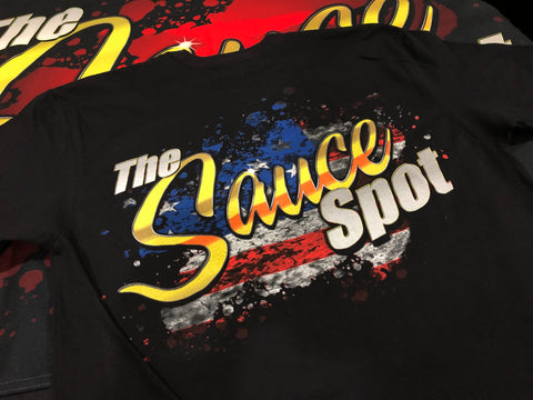 "T-Shirt ""USA Edition"" Sauce Spot Logo - BLACK"