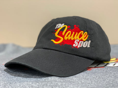 "The Classic Dad Hat - ""The Sauce Spot"" BLACK"