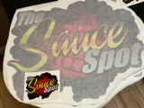 "THE SAUCE SPOT GIANT STICKER -  24"" X 24"""