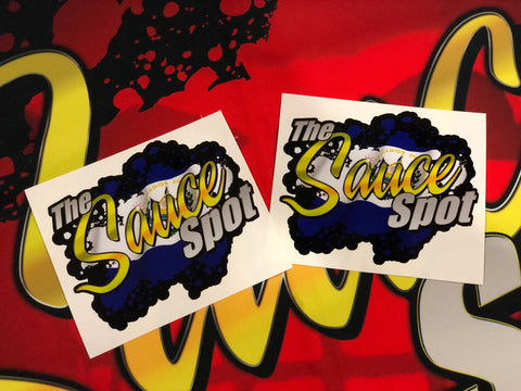 THE SAUCE SPOT STICKER - EL SALVADOR 2 PACK