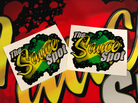 THE SAUCE SPOT STICKER - JAMAICA 2 PACK