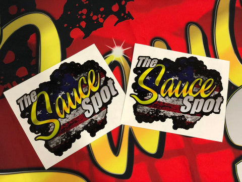 THE SAUCE SPOT STICKER - USA 2 PACK