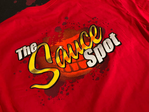 "T-Shirt ""The Sauce Spot"" Logo - RED"