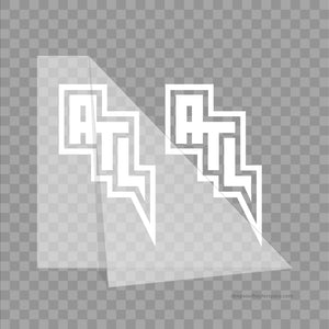 ATL Lightning Design Vinyl Stickers