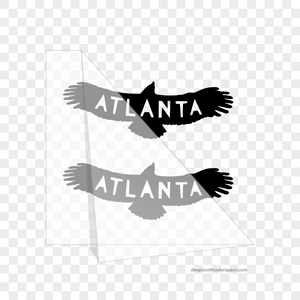 Atlanta Bird Vinyl Sticker