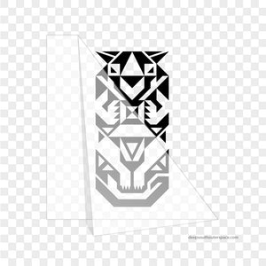 Geometric Tiger Vinyl Sticker