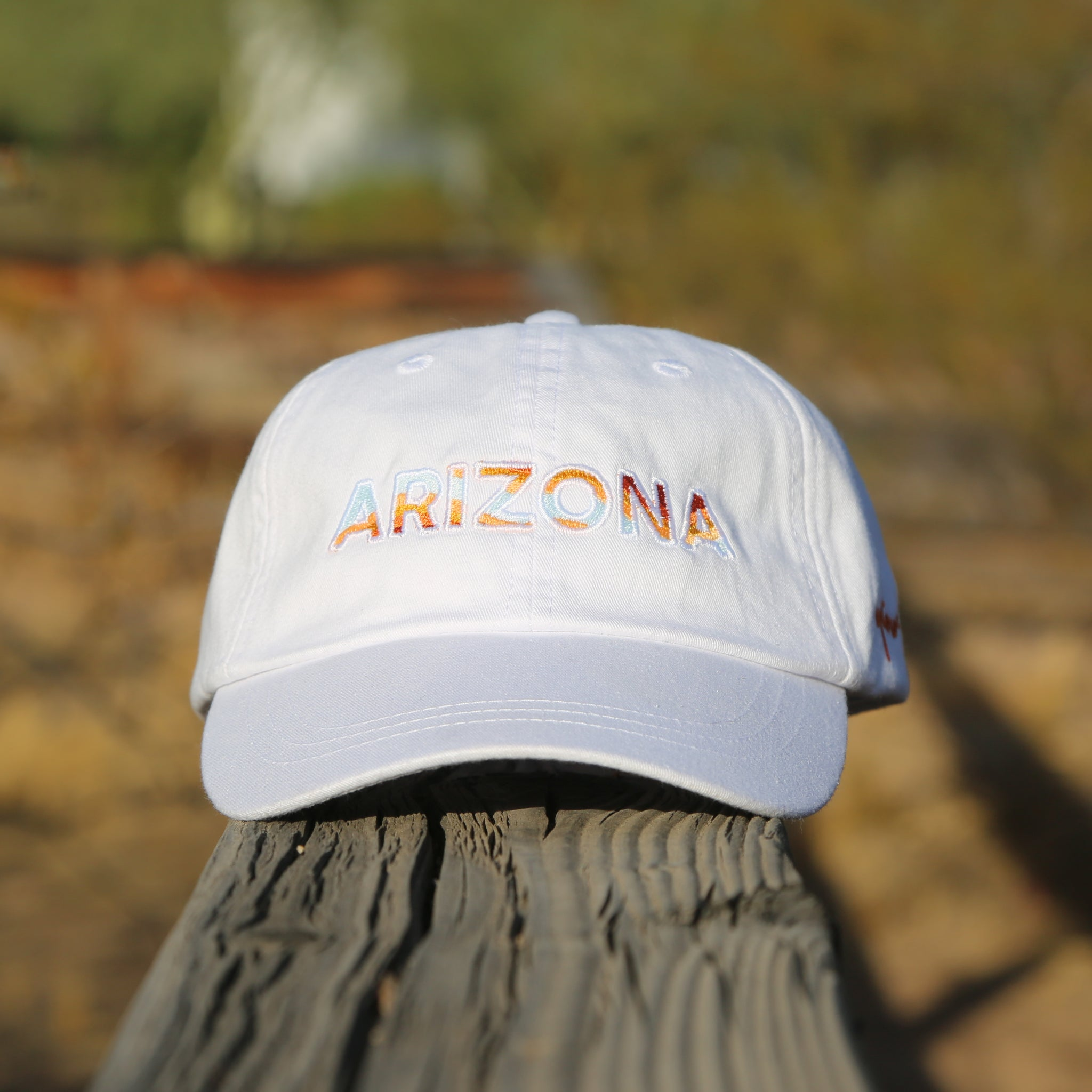 White Arizona Dad Hat