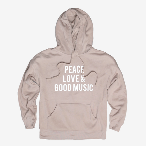 Tan Peace, Love & Good Music Sweatshirt