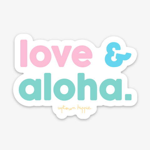 Love & Aloha Sticker