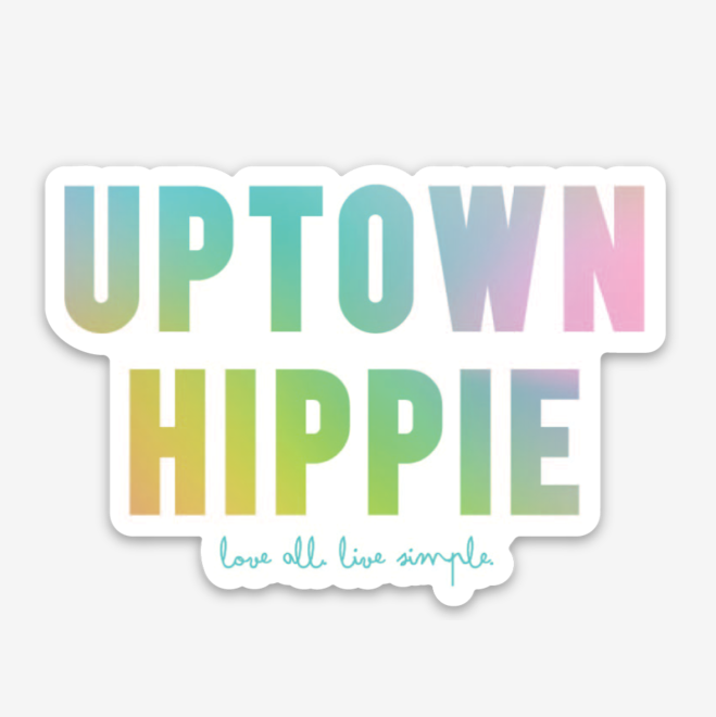 Colorful Uptown Hippie Sticker