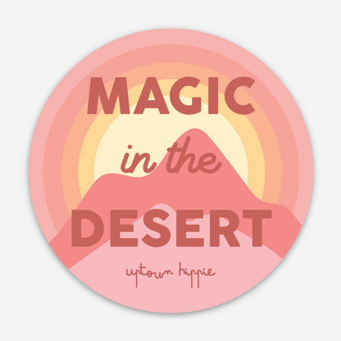 Magic in the Desert Sticker